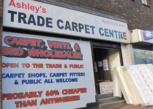 Ashley's Trade Carpet Centre - Cheapest Carpets and Beds Nottingham