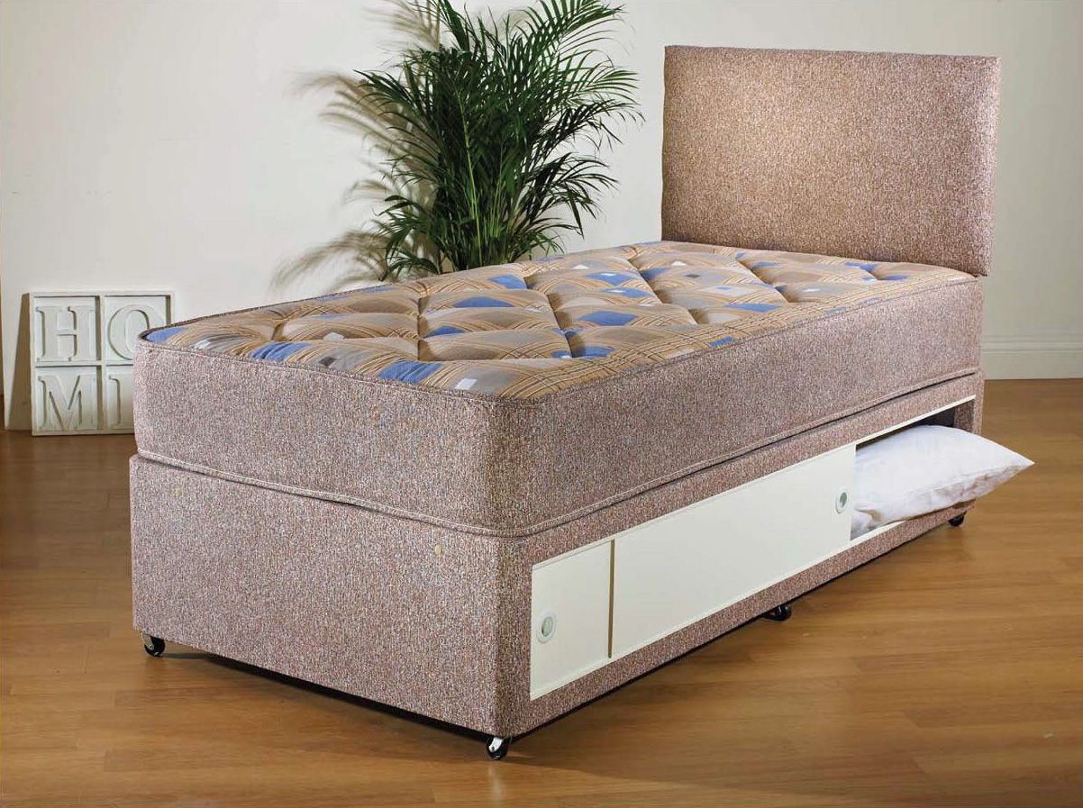 divan beds single ~ ashleys trade carpet centre  knight single divan bed