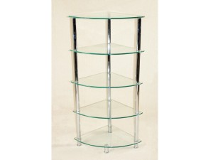 Cologne Clear 5 Tier Corner Rack