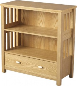 Ashmore 1 Drawer Bookcase (Low) in Ash Veneer