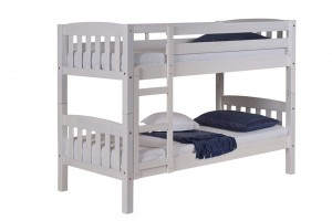 America Short Bunk Bed 2ft6 White