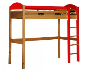 Maximus High Sleeper Antique With Red Details
