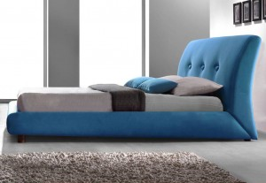 Sache Teal Double Bed