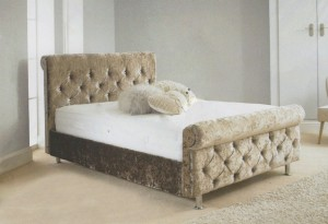Romney Luxury Upholstered King Size Bed