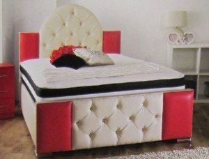 Cheviot Luxury Faux Leather Single Bed