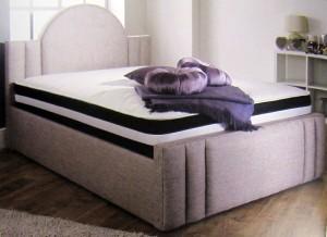 Barra Luxury Upholstered King Size Bed with Lift Up Storage