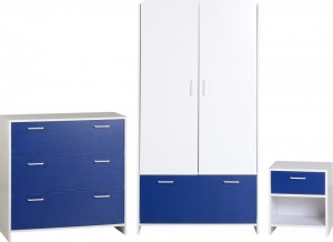 Lollipop Bedroom Set in White/Blue