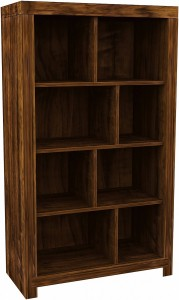 Hampton Acacia Tall Shelf Unit