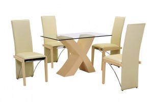 Arizona 4 Chair Dining Set in Beech