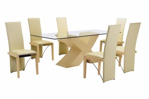 Arizona 6 Chair Dining Set in Beech