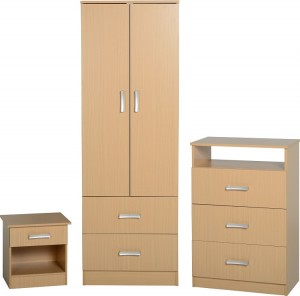 Polar Bedroom Set in Beech
