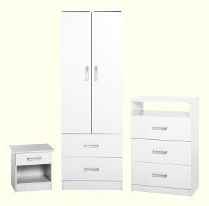 Polar Bedroom Set in White
