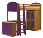 Verona High Sleeper Bed Set 2 Antique With Lilac Details