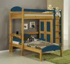 Maximus L Shape High Sleeper Antique With Blue Details