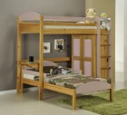 Maximus L Shape High Sleeper Antique With Pink Details
