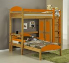 Maximus L Shape High Sleeper Antique With Orange Details
