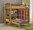 Maximus L Shape High Sleeper Set 1 Antique With Lilac Details