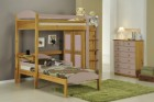 Maximus L Shape High Sleeper Set 2 Antique With Pink Details